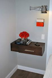 interior inspiring floating bedside tables with awesome looks to