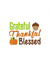 grateful thankful blessed saying embroidery design