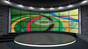 2016 rio olympics sports tv studio set 01 virtual green screen
