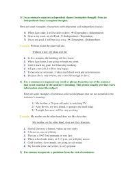commas answers