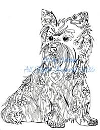 cairn terrier coloring book page download love dogs