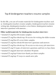 educator resume example top8kindergartenteachersresumesamples 150730023756 lva1 app6892 thumbnail 4 jpg cb 1438223925