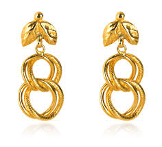 png gold earrings chain link yellow gold earrings