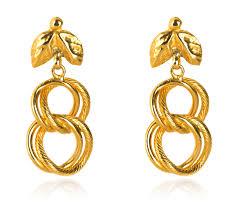 yellow gold earrings chain link yellow gold earrings earring jewellery