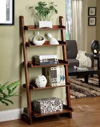 Corner Ladder Bookcase by Interior Leaning Shelf Bookcase Ladder Shelves Leaning Ladder