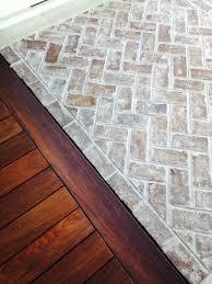 grey thin handmade bricks for flooring at sea pines