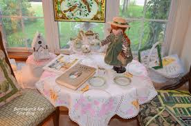 little tea table set bernideen s tea time cottage and garden anne of green gables tribute