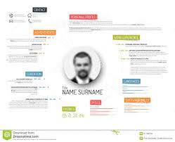 original cv resume template stock vector image 51758278