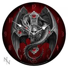 dragon guardian wall fantasy clock with art by anne stokes