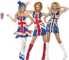 Flag Clothing Union Jack Dress British Flag Olympics Ladies Fancy Gb Costume