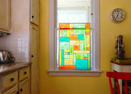 faux stained glass kitchen cabinets with faux stained glass