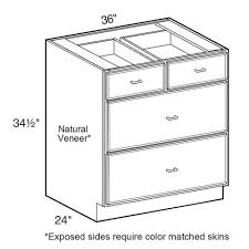 36 base kitchen cabinet with 3 drawers brookfield assembled 36x34 5x24 in plywood 3 drawer base kitchen cabinet soft drawers in painted pacific white