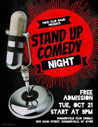 standup comedy flyer template postermywall