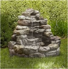 Small Patio Water Feature Ideas by How To Build A Water Feature With Rocks Outdoor Fountain Ideas Diy