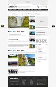reganto massive magazine theme wordpress template and magazines