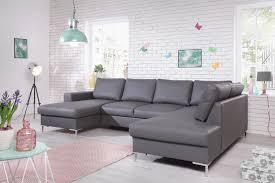 Canapé Fixe Confortable Design Au Canapé Lilly Simili Panoramique Fixe Bobochic