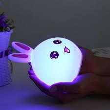 nachtlicht für kinderzimmer 7 farben kaninchen led kinder nachtlicht silikon weiche baby