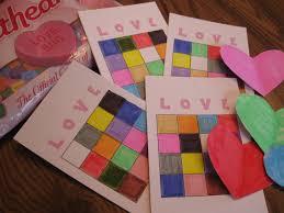 valentine u0027s day kids u0027 party game color bingo u2013 sisters shopping