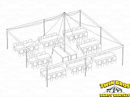 30x30 House Plans by 30x30 Pole Tent Layouts Pictures Diagrams Rentals
