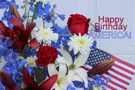 white and blue flowers white and blue arrangements happy birthday america sowing