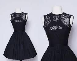 vintage black dress etsy