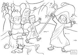 Coloring Pages Moses Israel S Enslavement In Egypt Christianity Bible Coloring Pages Moses