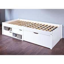 letto a legno massello ibrian letto singolo moderno in legno massello con cassetti cm