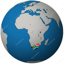 Image Of South African Flag South Africa Flag On Globe Map U2014 Stock Photo Michal812 5284972