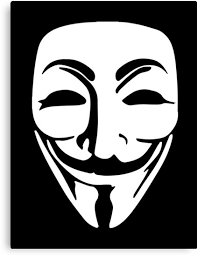 anonymous mask anonymous mask canvas prints by zyzzshirts redbubble