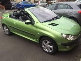 peugeot green peugeot 206 cc convertible 2003 green new brakes handbrake 84k