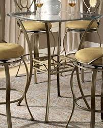 Bar Height Bistro Table Bar Height Bistro Table With Beveled Glass Top