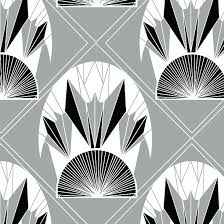 white and black wallpaper art deco wall paper fan affair art wallpaper by black white grey art