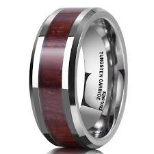 Tungsten Carbide Mens Wedding Rings by King Will 8mm Mens Wedding Bands In Tungsten Rings For Men Wedding