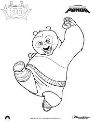panda color pages kids coloring