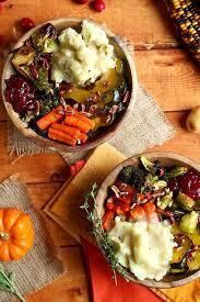 roasted vegan thanksgiving bowl recipe vegan thanksgiving