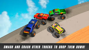 videos of monster trucks crashing crazy monster truck derby race android apps on google play