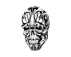 tribal skull design stock vector illustration of fierce