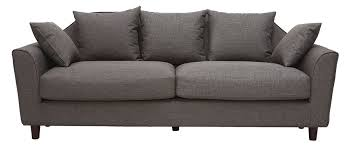 Canapé Fixe Confortable Design Au Canapé Fixe Design Gris 3 Places Winston Miliboo