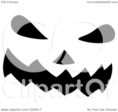 free jack o lantern clipart clipart of a black and white jackolantern pumpkin face royalty
