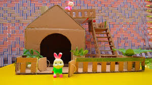 how to make amazing house for toy puppy with cardboard youtube