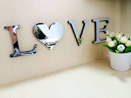 home decor letters 3d mirror wall stickers wedding english love letters home