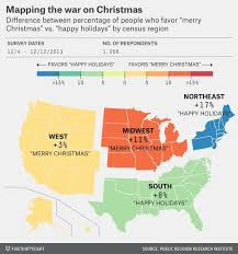 where to say merry vs happy holidays geography