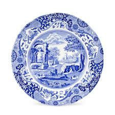 spode blue italian seconds 10 inch plate set of 4 spode uk