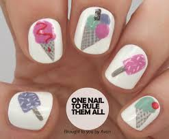 ice cream nail art for avon tutorial one nail to rule them all