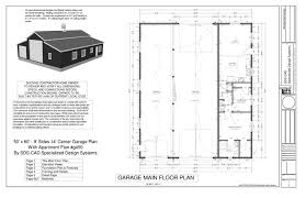 Garage Floor Plans With Living Quarters G450 60 X 50 10 U0027 Apartment Barn Style Page 1 Sds Plans Cabin