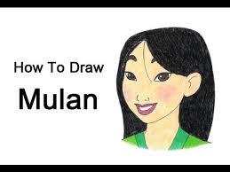draw mulan