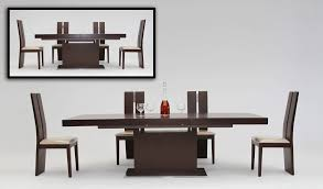 wood dining room set modern extendable dining table design