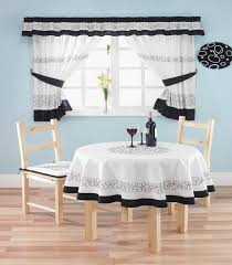contemporary kitchen curtain ideas double round white recaset