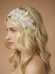 wedding headband sculptured lace wedding headband