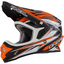 orange motocross helmet oneal 3 series hurricane enduro mx moto x dirt bike scrambler